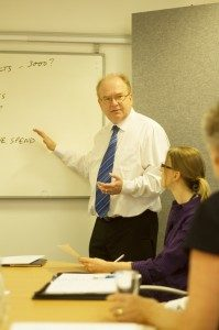 Andy Entwistle training on business sales