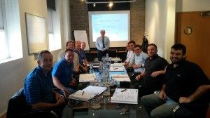 10 engineers and directors learning about technical sales